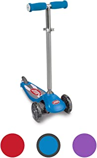 Radio Flyer Lean `N Glide Scooter with Light Up Wheels Kids Scooters Blue