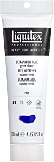 Liquitex Professional Heavy Body Acrylic Paint, 4.65-oz Tube, Ultramarine Blue (Green Shade)