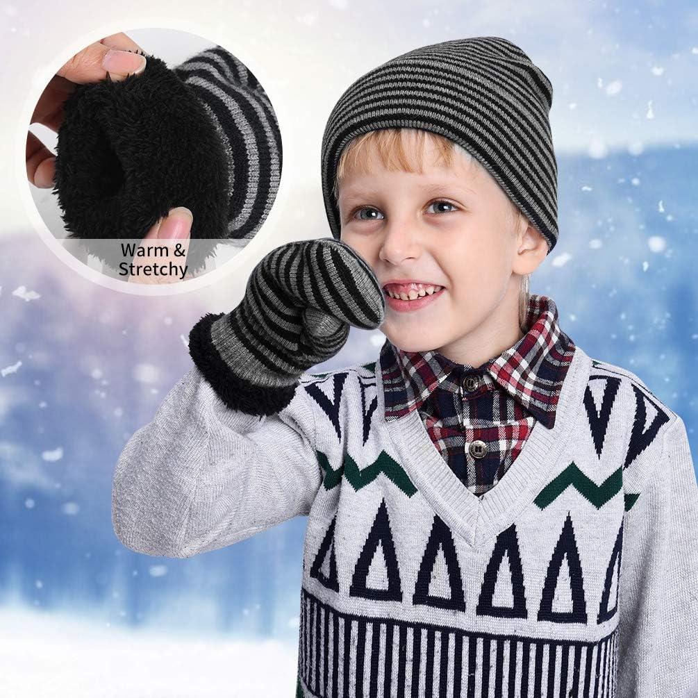 inverno per autunno Set di guanti invernali per bambini in maglia VBIGER