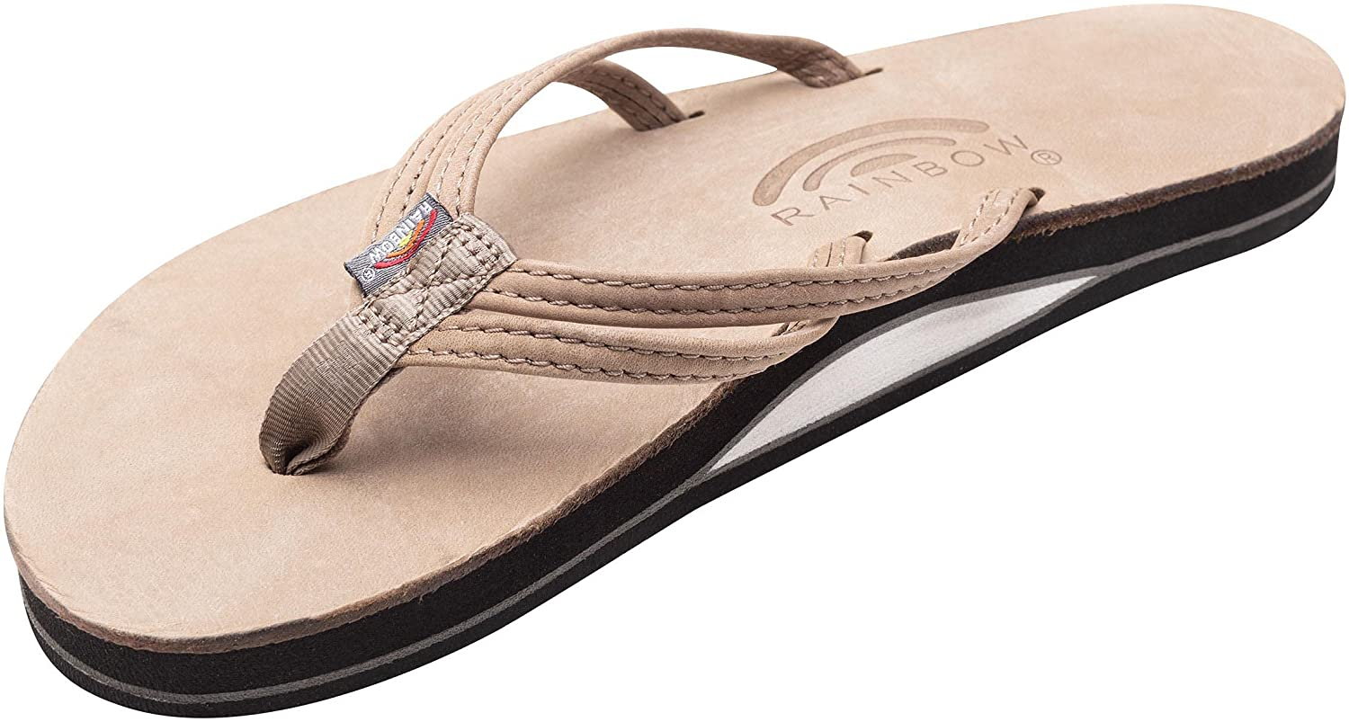 Rainbow Sandals Ladies The Sand Piper Luxury Leather - Single Layer Arch w/Double Narrow 1/3