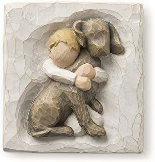 Willow Tree hand-painted sculpted Plaque, Hug (26513)