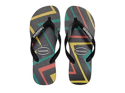 Havaianas Top Zigzag Sandal (Black/Black) Men
