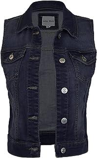 22304e6fa2d4 Instar Mode Women's Classic Casual Vintage Denim Jean Jacket/Vest