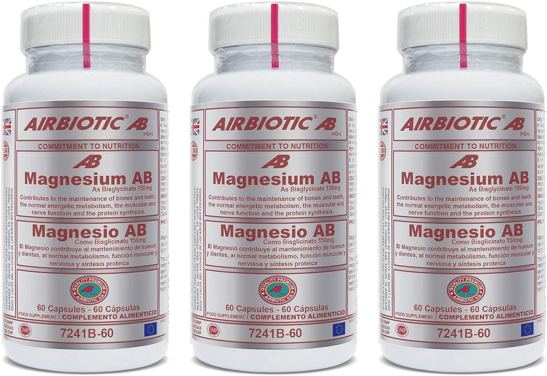 Airbiotic - MAGNESIO AB 150 mg 60 cápsulas - como ...