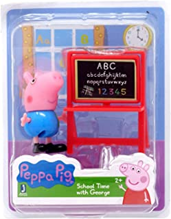 Peppa Pig - School Time with George Character Figure with Chalk Board Accessory