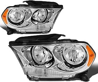 For Durango Pair Chrome Housing Amber Side Headlight/Lamps Left+Right
