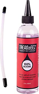 GSM Brands Treadmill Belt Lubricant - 100% Silicone Acrylic Pouring Oil - Elliptical Exercise Machine Lube (8 oz Size)