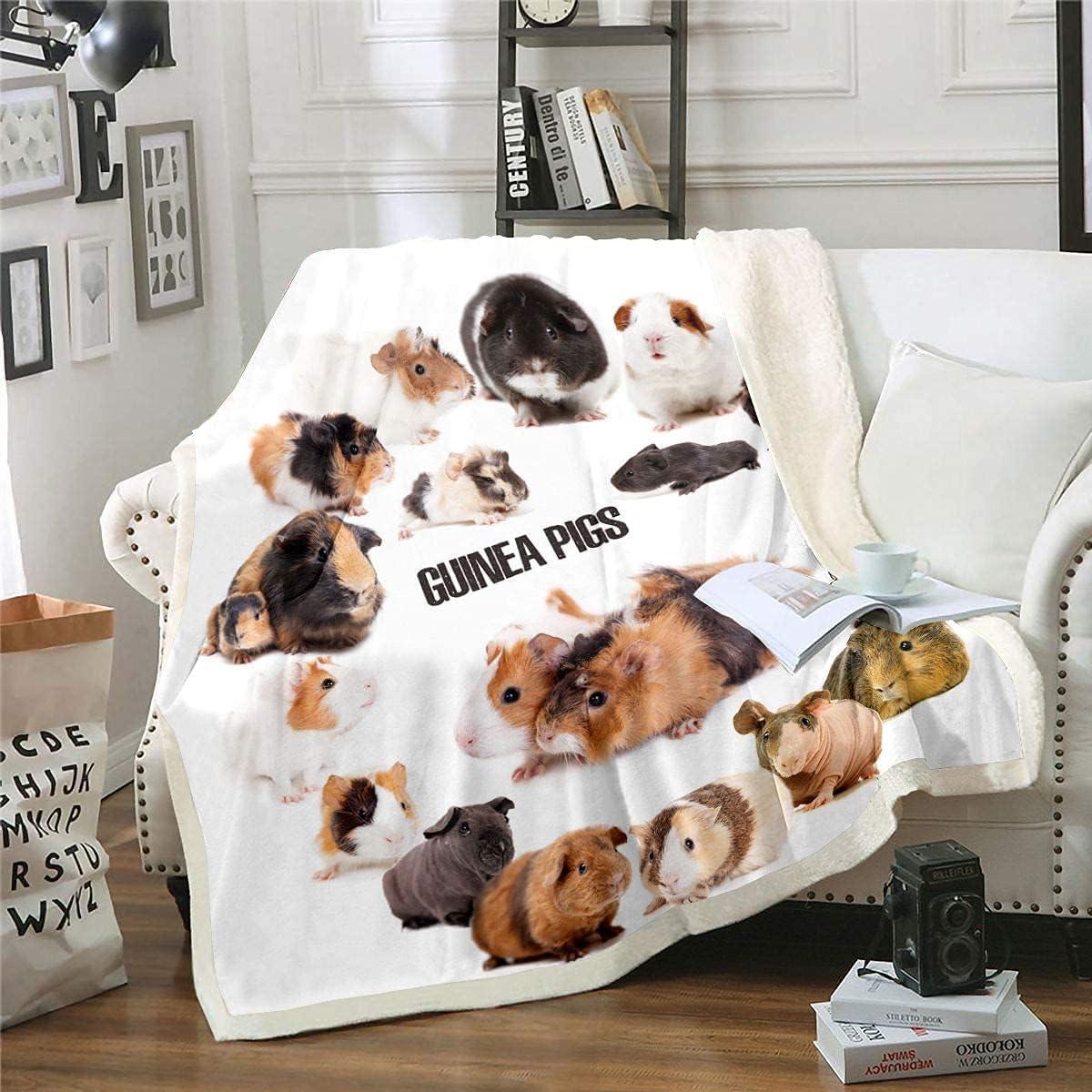 Kids New Free Shipping Guinea Pig Plush Bed Blanket Cute Pet Sherpa Animal Blanke Many popular brands
