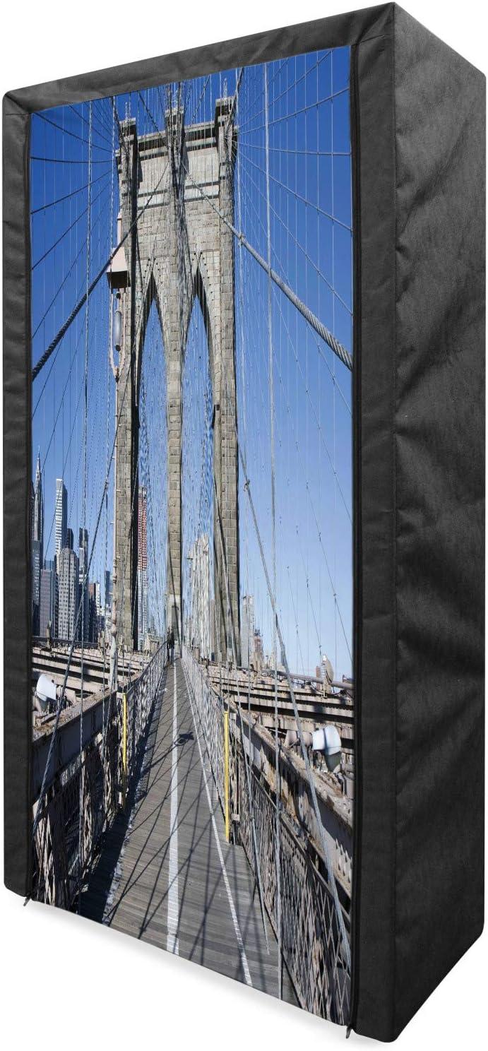 Lunarable Philadelphia Mall United States Portable Gothic Fabric Wardrobe Max 66% OFF Brookly