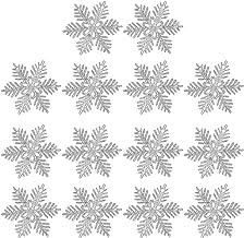 TOYMYTOY 24pcs Christmas Snowflake Ornaments Silver Christmas Winter Snow Tree Hexagonal Snowflake Decoration Xmas DIY Sno...