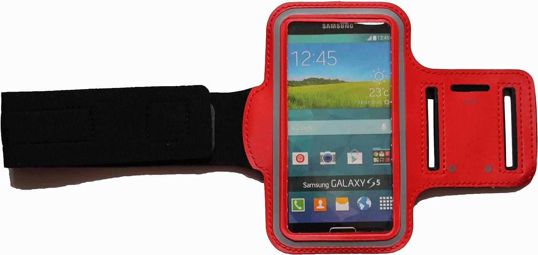 A30s A10 A20e Brassard de sport /étanche pour Samsung Galaxy A6 A30 A50 Fitness Sac de course /à pied avec prise casque Rouge