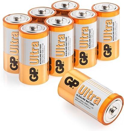 Size C batteries |Pack of 8| GP Batteries |Superb operating time| 14AU | LR14 | 1.5V