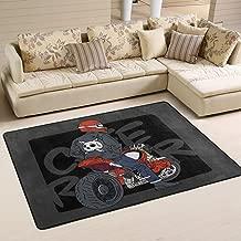 Cafe Racer Illustration Print Area Rugs for Dining Room Living Room Bedroom Decor Carpet Floor Mat 6'x 4'
