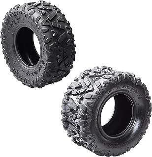 ZXTDR Front Tires 19x7-8'' & Rear Tires 18x9.5-8'' Knobby Tubeless for ATV Go Kart Quad Bike