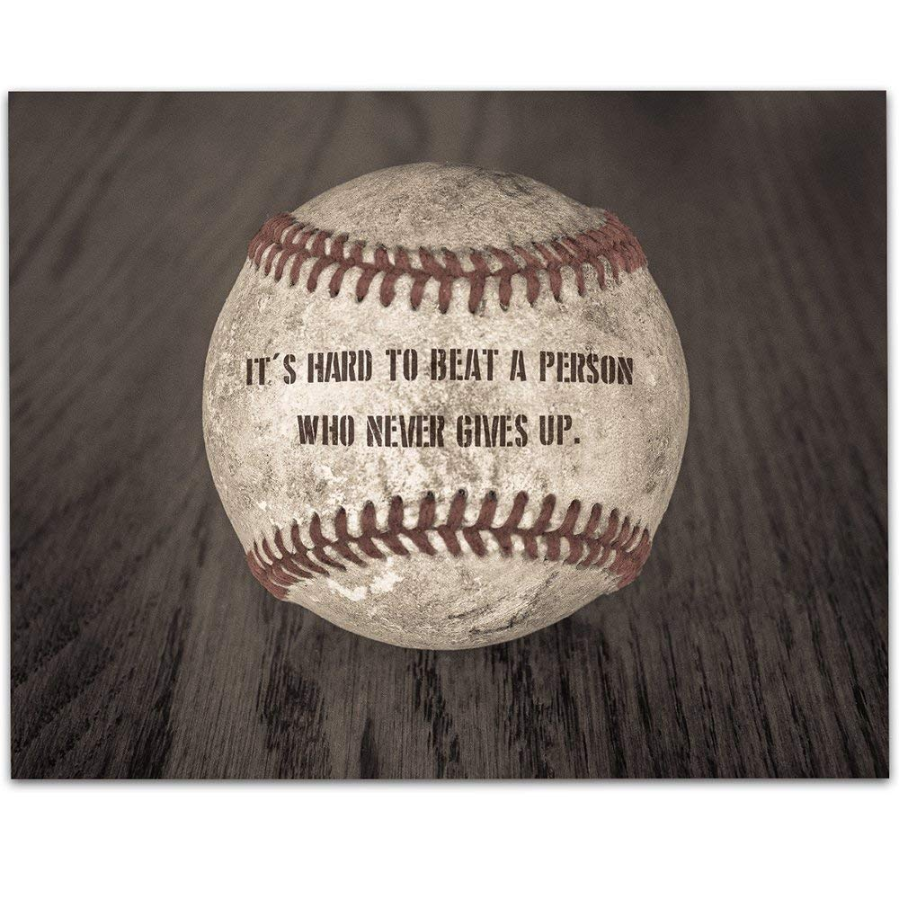 Baseball - It is very popular It's Hard To Beat A Up Gives 11x14 Person Never Ranking TOP16 Who