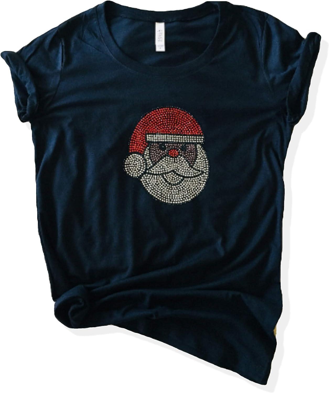 Black Discount mail order Santa Claus Choice Shirt Rhinestone American African