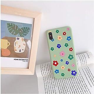 新しい桃アボカドフルーツソフトTPU電話ケースiphone X XS最大XR 11プロ7 8 6 6 sプラスかわいい漫画フラワーガールシリコーンカバー,For iPhone 6 6S,007