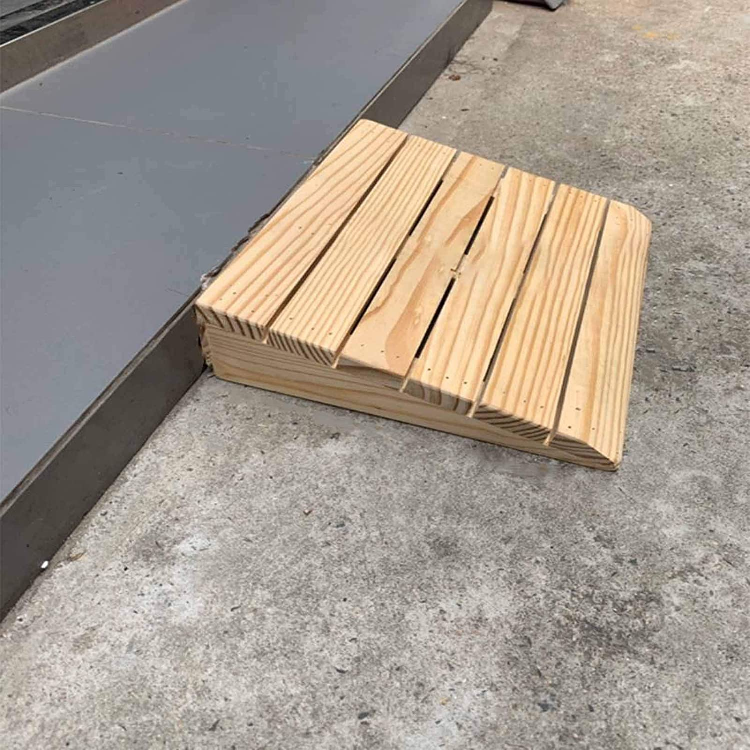 YSML Max 47% OFF Sacramento Mall Solid Wood Portable Ramps Steps Outdoor Indoor Stairs Barr