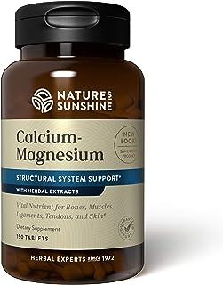 Nature's Sunshine Calcium-Magnesium, SynerPro, 150 Tablets , Calcium Multivitamin Provides Vital Nutrients for Bones, Musc...
