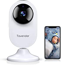 Tovendor Mini Smart Home Camera, 1080P 2.4G WiFi Security Camera Wide Angle Nanny Baby Pet Monitor with Two Way Audio, Clo...