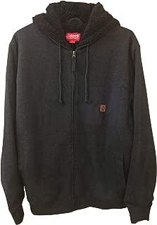 Mens Full Zip Fleece Lined Hoodie Sweatshirt JacketMens Full Zip Fleece Lined Hoodie Sweatshirt Jacket Large Black