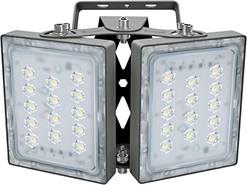 Projecteur LED 60W, IP65 Imperméable, 5400LM, Eclairage Extérieur LED, Equivalent à Ampoule Halogène 360W, 5000K Lumi...