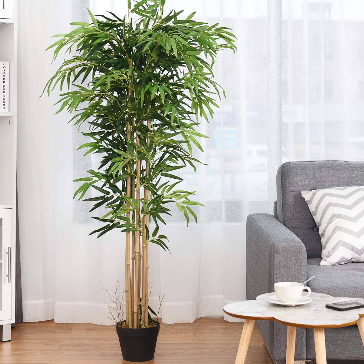 BestComfort Max 42% Outstanding OFF 5 Feet Artificial Bamboo Tree Indoo Decorative Silk