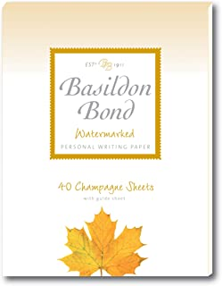 Basildon Bond Duke 137 x 178 mm Writing Pad with 40 Sheets - Champagne