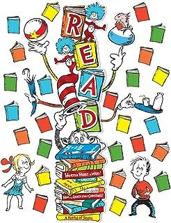Eureka Dr. Seuss ``Read`` Classroom Decoration Door Poster Kit, 34pcs, 45`` H