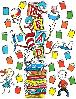 Eureka Dr. Seuss ''Read'' Classroom Decoration Door Poster Kit, 34pcs, 45'' H