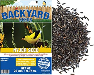 Backyard Seeds Nyjer Thistle Bird Seed for Finches 20 Pounds