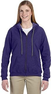Women's Vintage Classic Full Zipper Hooded Sweatshirt, Lilac, XX-Large