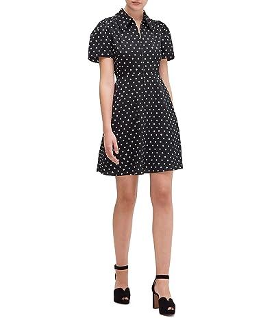 Kate Spade New York Cabana Dot Smocked Dress (Black) Women