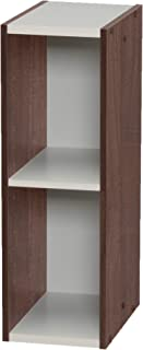 Marca Amazon - Movian Librería modular con 2 estantes en MDF Marrón 20 x 29 x 60 cm