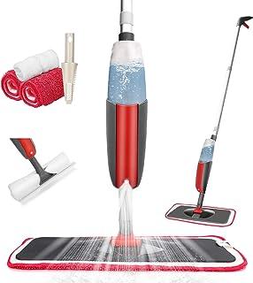 Tencoz Balai Pulvérisateur, Balai Lave Sol avec Vaporisateur, Spray Mop Balai Serpillère avec 4 Tampons Microfibre et Rése...