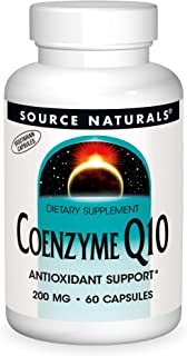 Source Natural Coenzyme Q10 Antioxidant Support 200 mg For Heart, Brain, Immunity, & Liver Support - 60 VEGETARIAN Capsules
