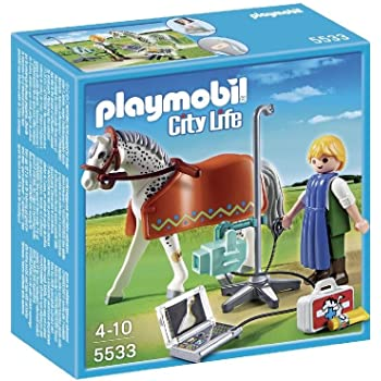 25 cm Playmobil Nostalgie Collection Cheval-Personnage
