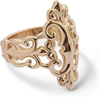 Sterling Silver or 14K Gold Plated Open Work Filigree Ring Sizes 5 to 10