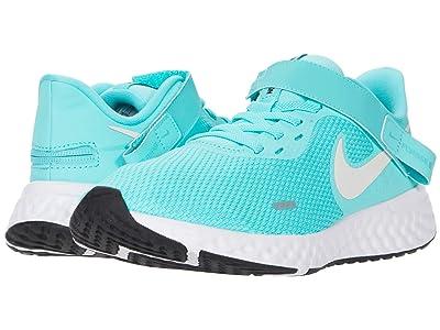 Nike Flyease Revolution 5 (Aurora Green/Platinum Tint Black) Women