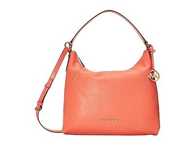 MICHAEL Michael Kors Aria Large Shoulder (Pink Grapefruit) Handbags
