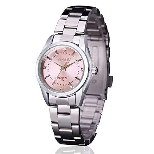 Women Lady Dress Analog Quartz Watch with Stainless Steel Band, Casual Fashion Waterproof Watches Roman