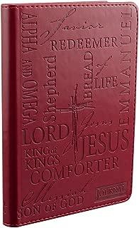 Names of Jesus Handy-sized LuxLeather Journal in Burgundy