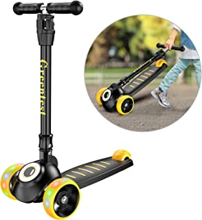 Greentest Scooter Foldable Adjustable Height Easy Turning 3 Wheel Scooter Kids Boys Girls..