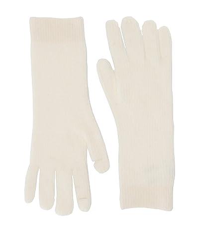 J.Crew Supersoft Easy Ribbed Gloves (Ivory) Dress Gloves