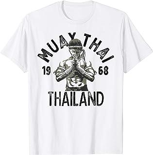 T-Shirt Rouge Muay Thai Sparring Combat Arts Martiaux Robe /À Manches Courtes Tigre V/êtements De Boxe