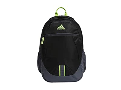 adidas Foundation V Backpack (Black/Onix/Signal Green) Backpack Bags