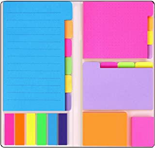 Sticky Notes Set with Bookmark Index for Planner Bullet Journaling Notebook Textbook Calendar, 60 Ruled (4x6), 40 Dotted (...