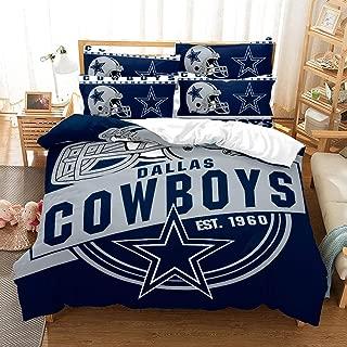 Weckim Dallas Cowboys Three-Piece Bedding Set