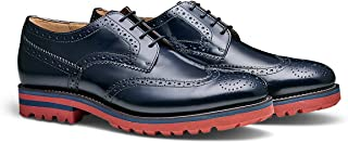 MORAL CODE The Miller: Men's Leather Blucher Dress Shoe with a Brogued Wingtip