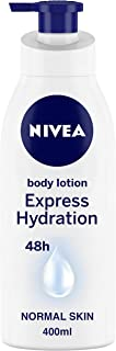 NIVEA Body Lotion For Men & Women, Express Hydration, for Fast Absorption, 400 ml